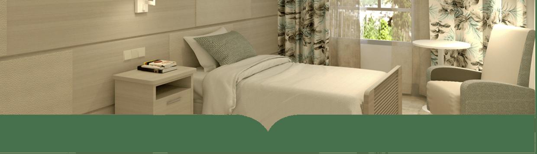 Dormitorio de la residencia para personas Mayores Macarena en Sevilla