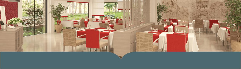 Salón comedor del centro Emera en Sant Genis