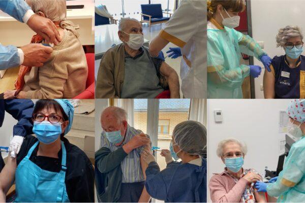 Finalizada la primera fase de la campaña de vacunación frente al Covid-19 en las residencias para personas mayores de Emera España