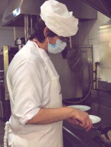 Cocina de Emera Mas Camarena, Solomillo iberico con crema de setas y esparragos trigueros (2)